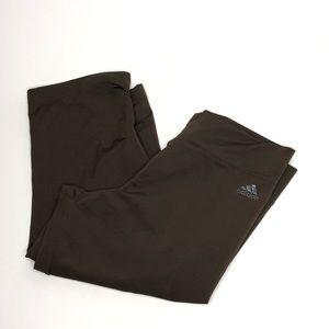 Adidas Brown Capris Athletic Pants Size Medium